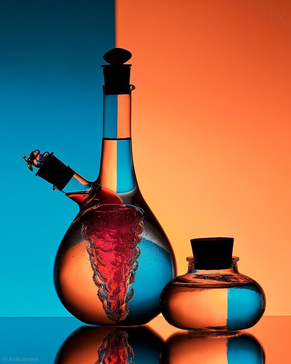 reflection photography bottles by aida laneva