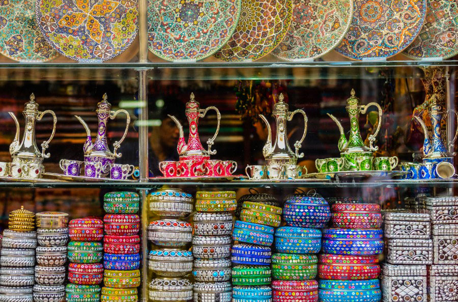 travel photography colorful arab shops by aaron patrimonio