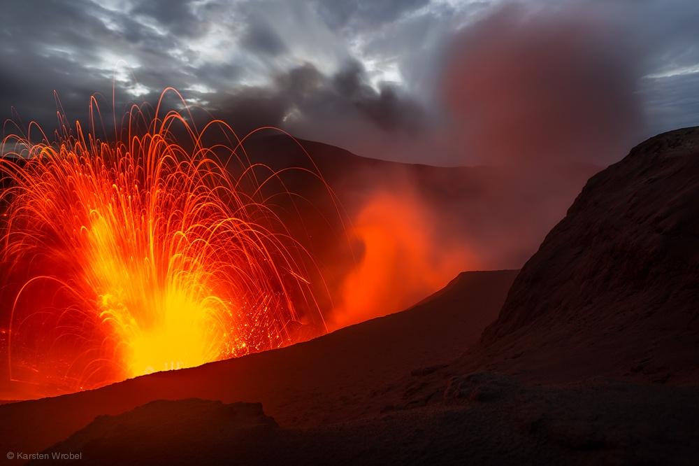 volcano fireworks photography by karsten wrobel