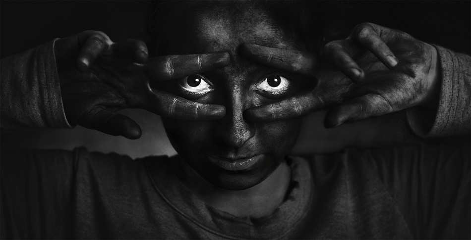 black white photography eyes by vahid babaei