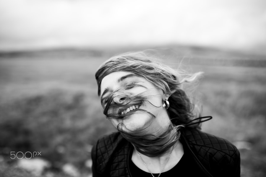 candid photography smiling woman