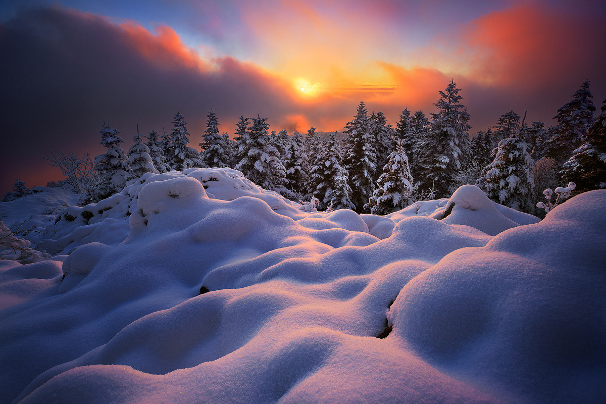 sunrise photography winter sun by florent courty