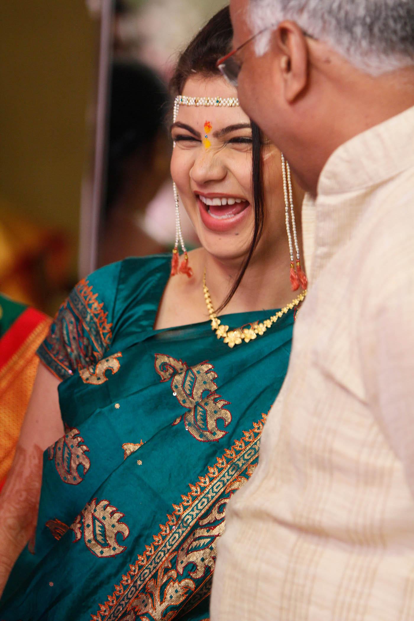 candid photography happy bride by rohan dalvi